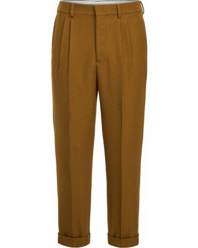 Brązowe spodnie wełniane Ami