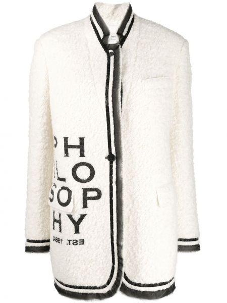 Пальто без воротника на кнопках Philosophy Di Lorenzo Serafini