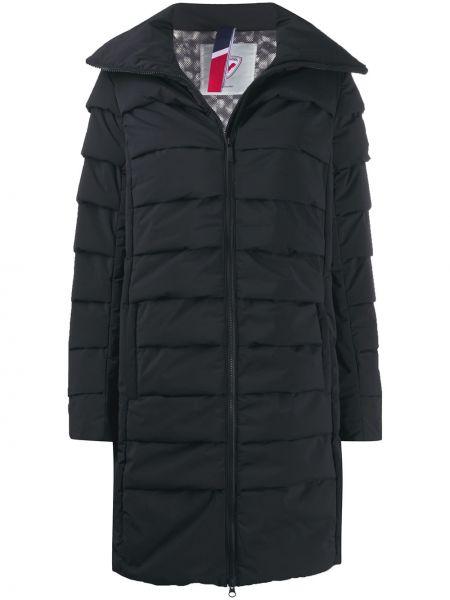Черное пальто с капюшоном Rossignol