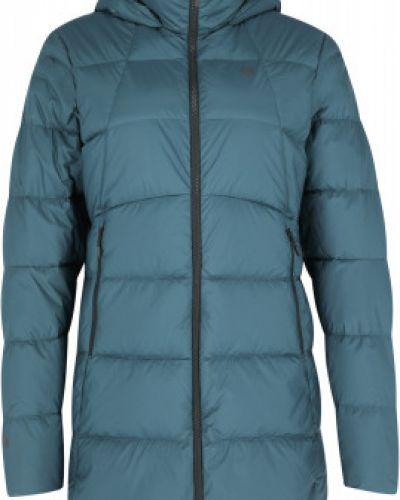 Пуховая синяя длинная куртка на молнии Mountain Hardwear