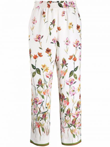 Белые брюки с карманами свободного кроя Pt01