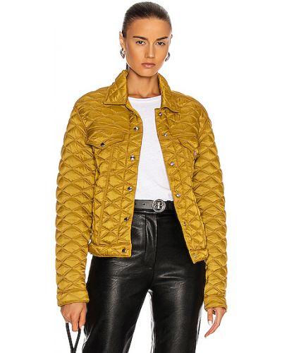 Нейлоновая желтая стеганая джинсовая куртка Rta