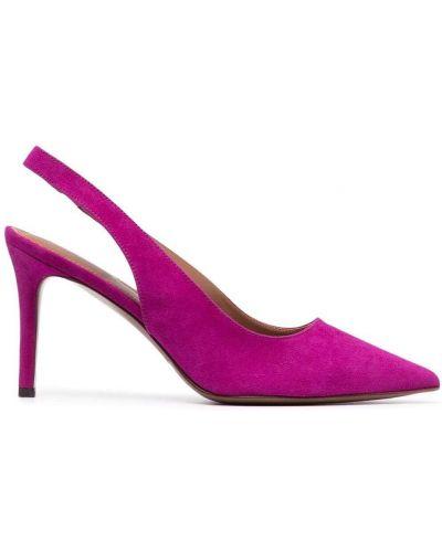 Розовые замшевые туфли-лодочки на каблуке L'autre Chose