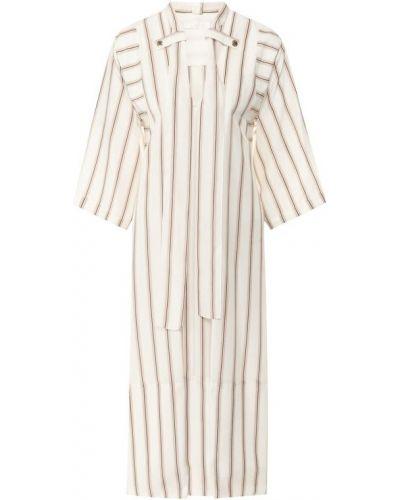Платье шелковое бежевое Chloé