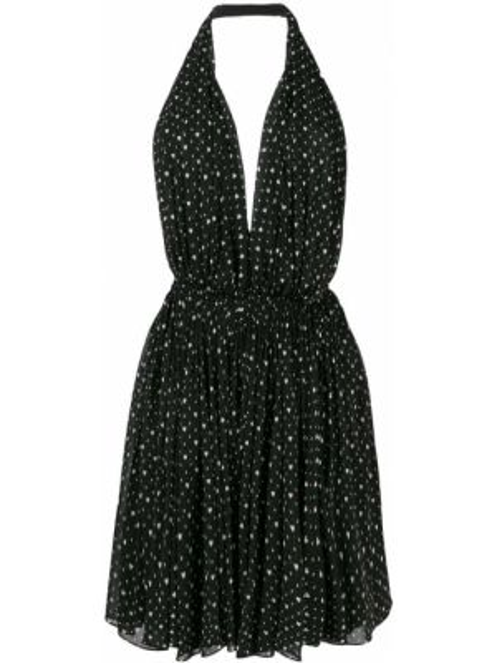 Платье с открытой спиной с декольте Saint Laurent