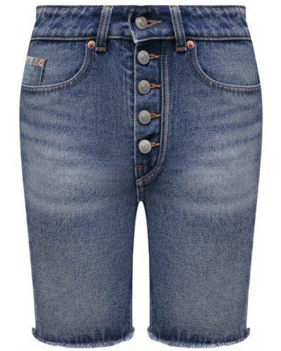 Джинсовые шорты - синие Mm6