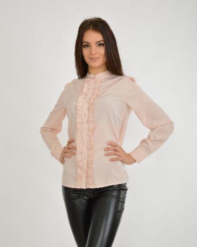 Блузка с кокеткой с воротником-стойкой My Style