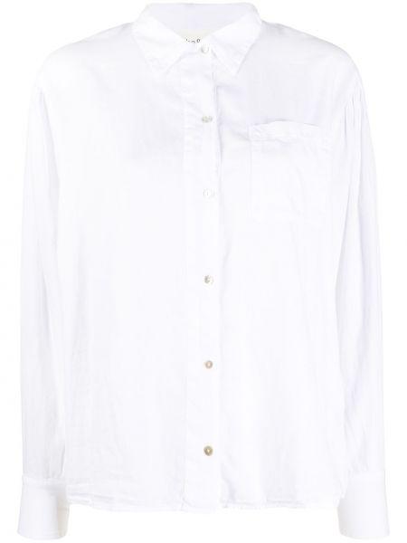 Белая классическая рубашка с воротником на пуговицах с карманами Ba&sh