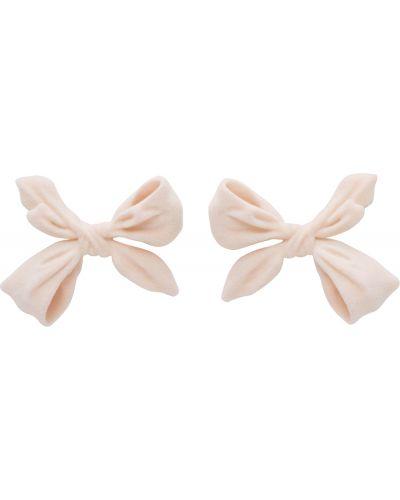 Różowe kolczyki sztyfty srebrne Shushu/tong