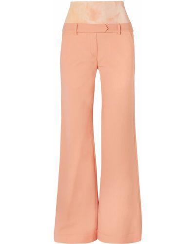 Pomarańczowe spodnie wełniane z paskiem Ellery