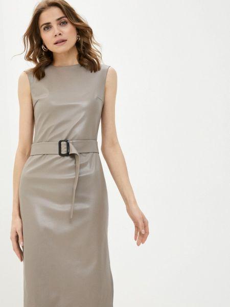 Вязаное серое платье Knitman