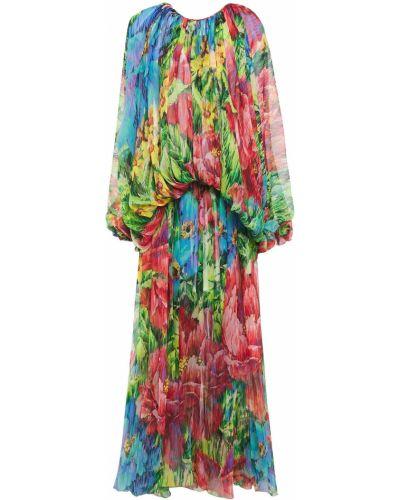 Асимметричное шелковое платье макси с драпировкой Dolce & Gabbana