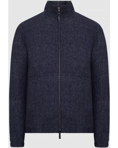Шерстяная синяя куртка двусторонняя Loro Piana