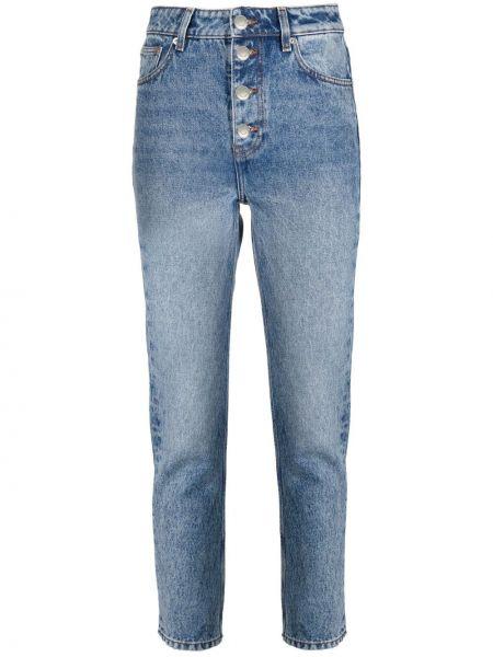 Прямые синие джинсы с высокой посадкой Iro