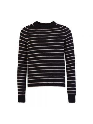 Z paskiem wełniany sweter w paski Saint Laurent