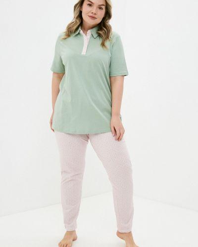 Пижамная зеленая пижама Ulla Popken