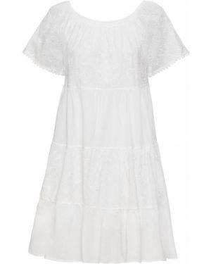 Платье мини с вышивкой Bonprix