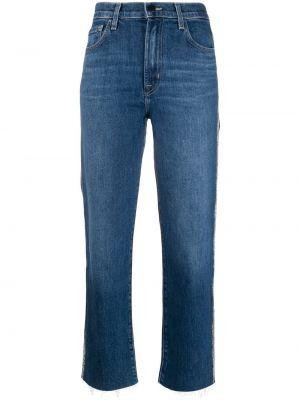 Укороченные джинсы mom с мехом J Brand