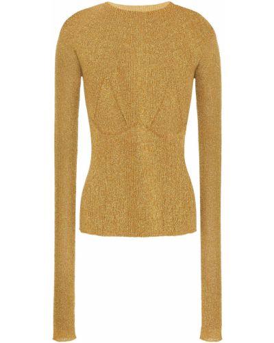 Облегченный свитер золотой металлический Lanvin