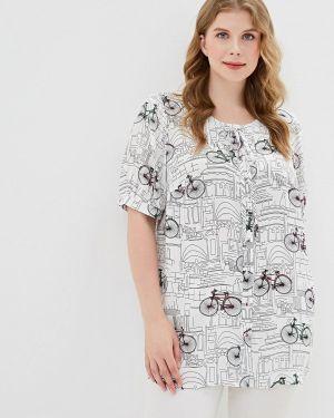 Блузка с коротким рукавом белая весенний Borboleta