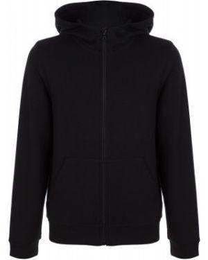 Черный спортивный джемпер на молнии с капюшоном Demix