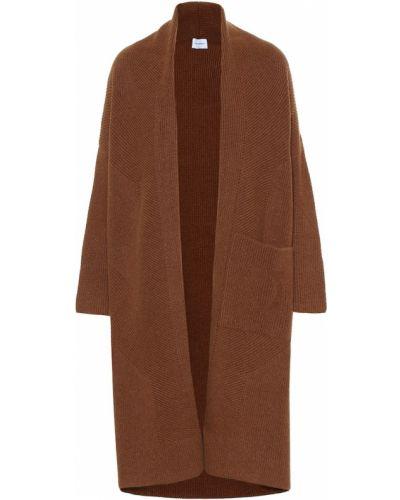 Коралловое шерстяное пальто Salvatore Ferragamo