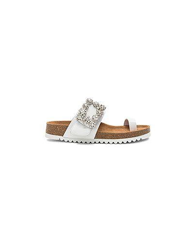 Белые сандалии Jeffrey Campbell