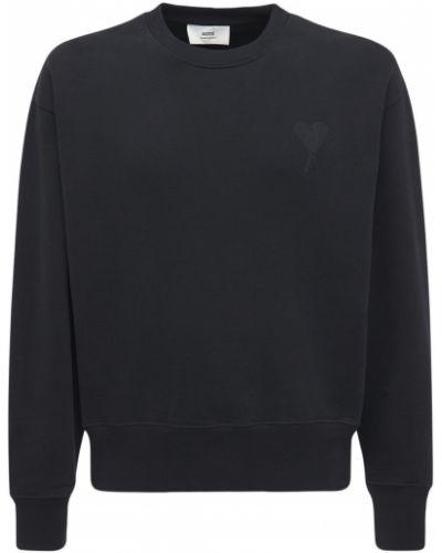 Bluza dresowa - czarna Ami Alexandre Mattiussi