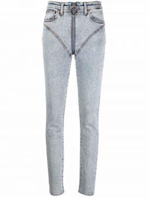Джинсовые зауженные джинсы - синие Alessandra Rich