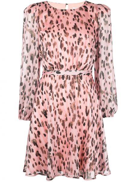 Różowa sukienka długa z długimi rękawami Milly