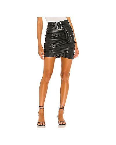 Черная юбка мини из искусственной кожи с подкладкой For Love & Lemons