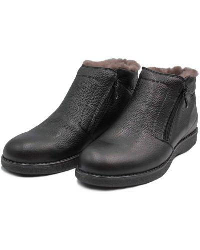 Кожаные ботинки - коричневые Kadar