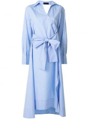 Хлопковое платье миди - синее Eudon Choi