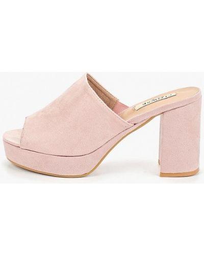 Сабо на каблуке розовый Clowse