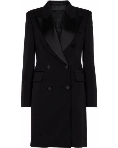 Черное шерстяное платье Max Mara
