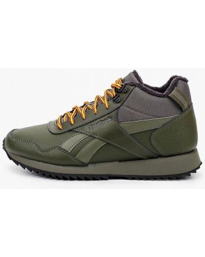 Зеленые кожаные кроссовки Reebok Classic