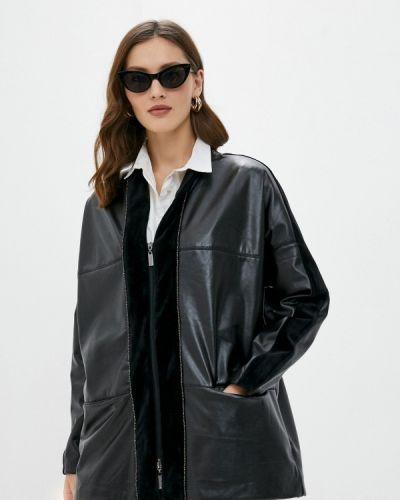 Черная кожаная куртка Helmidge