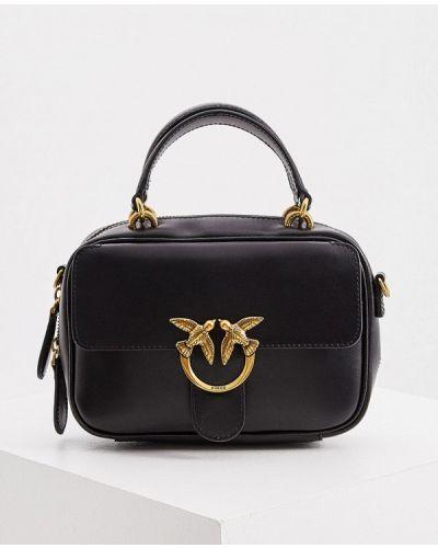 Черная кожаная сумка с ручками Pinko