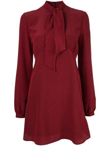 Платье на молнии шелковое Saint Laurent