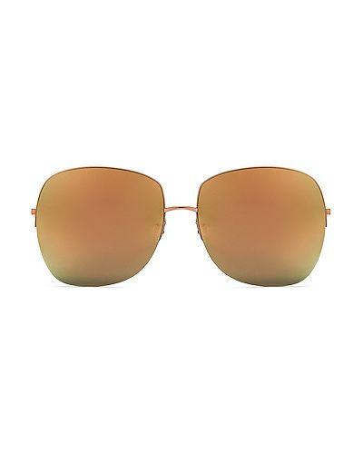 Złote czerwone okulary Barton Perreira