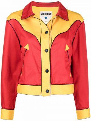 Красная куртка длинная Moschino Pre-owned