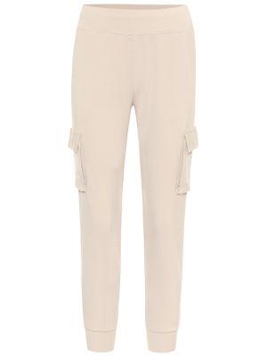 Beżowe spodnie bawełniane do pracy Alo Yoga