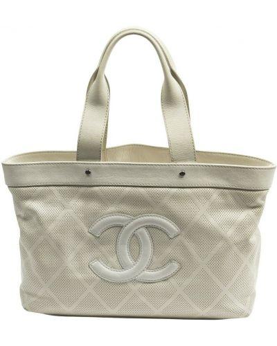 Biała torba na ramię Chanel Vintage
