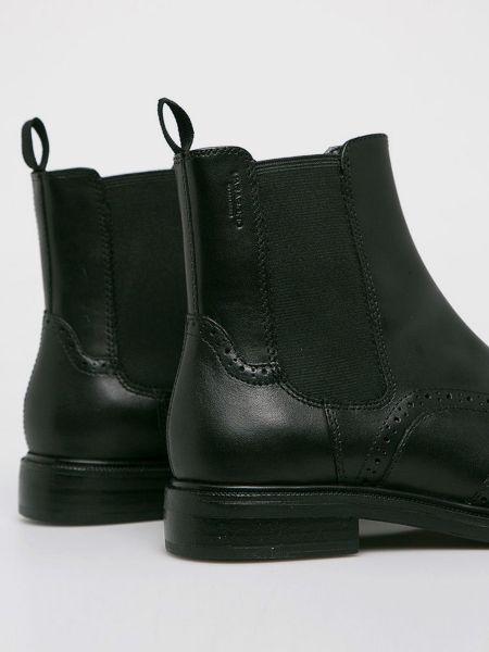 Кожаные черные ботинки челси со вставками Vagabond