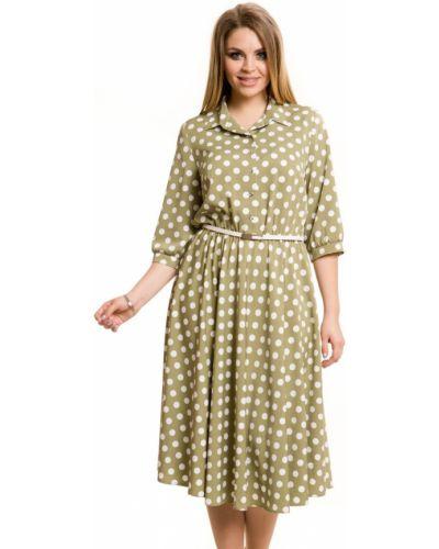 Летнее платье в горошек на пуговицах Novita