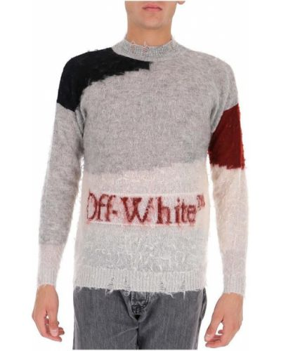Szary sweter moherowy Off-white