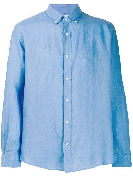 Klasyczna niebieska klasyczna koszula z długimi rękawami Bluemint