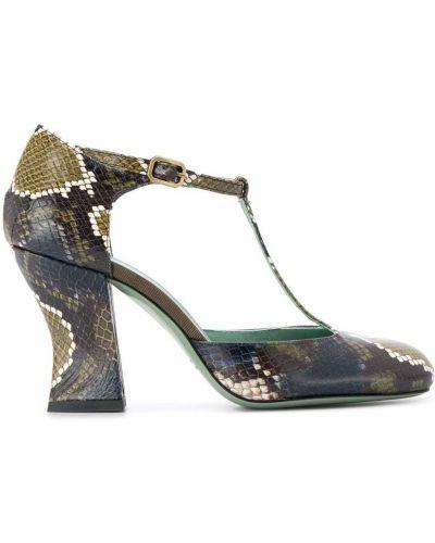 Туфли на высоком каблуке с пряжкой круглые на каблуке Paola D'arcano