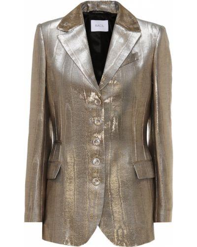 Пиджак золотой с люрексом Racil