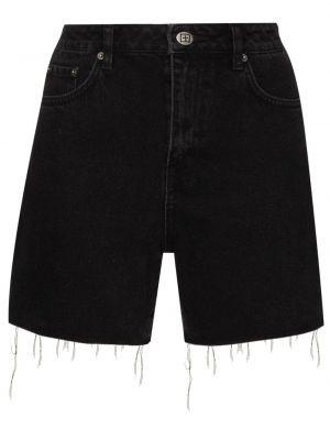 Хлопковые черные с завышенной талией джинсовые шорты Ksubi